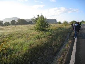 a caminho de Fátima desde Ourem